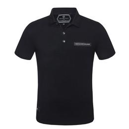 Diseño de la camiseta del polo online-Hombres camiseta polo 2019 calidad verano moda hombre camiseta diseño PP polo manga corta camiseta poloshirt ropa cráneo shir