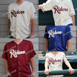 Женские футболки онлайн-Mens Womens Youth Frisco RoughRiders Beige Red Blue Custom Double Stitched Shirts Baseball Jerseys High-quality