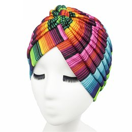 chemo hair hat Coupons - Summer Women Hat Printing Chemo Hat Beanie Islam Muslim Scarf Stretch Turban Head Wrap Cap Hair Accessories
