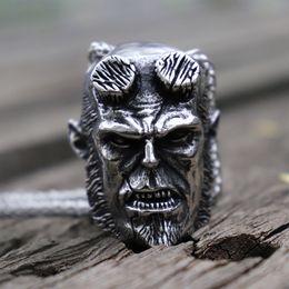 collares pesados del motorista Rebajas Mens Heavy Hellboy Devil 316L Collar colgante de acero inoxidable Punk Rock Biker Jewelry