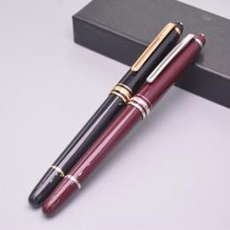 fontane del vino Sconti Classics Meisterstcek mb 163 Black - Penna stilografica in resina rossa per vino Fine Office Stationery Luxury Write Penne regalo in inchiostro