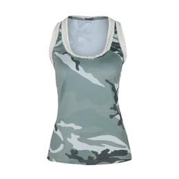 DHL Womens Activewear Tops Cotton T Shirt a scatti scoperti Tops Camouflage Casual senza maniche Tanks Top Vest 1Colors supplier dhl vests da giacche da giacca fornitori