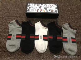 Argentina Nuevo 5 pares de calcetines para hombres mujeres antibacteriano desodorante de algodón moda mujer calcetines 5 pares calcetines de tobillo color mezclado dgssdg Suministro