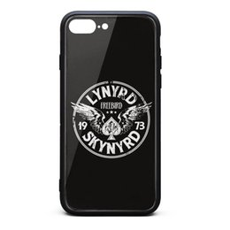 2019 couverture iphone iphone Coque iPhone 8 Plus, Coque iPhone 7 Plus Lynyrd Skynyrd Free Bird '73 Wings '9H Verre Trempé Couverture Arrière TPU Bumper Shuffproof Phone Case promotion couverture iphone iphone