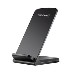 Новое продвижение QI Stander беспроводное зарядное устройство быстрое беспроводное зарядное устройство для мобильных телефонов для IPhone X / 8p / 8 Samsung S9 / s8 / s7 E385 от