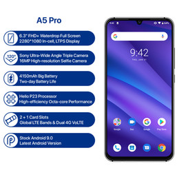 grande bateria smartphone Desconto UMIDIGI A5 PRO Versão Global Android 9.0 Octa Núcleo 4 GB 32 GB 6.3 'FHD + 16MP Câmera Tripla 4150 mAh carga Rápida Celular Smartphone