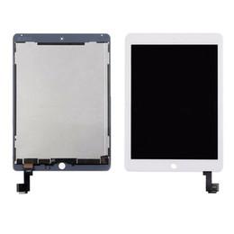 Pantalla táctil ipad air original online-10pcs Nueva original para iPad 2 para el iPad de aire 6 A1567 A1566 LCD de pantalla táctil de la Asamblea digitalizador Blanco Negro + adhesiva
