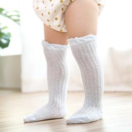 a20435d21 Venta al por mayor Bebé niña delgada Medias brillantes niños niña algodón  malla transpirable Algodón Nuevos calcetines de buena calidad medias de  verano ...