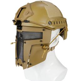2019 metall taktische maske Jagd Tactical Protective Vollgesichtsmaske CS Cosplay Voll Radfahren Gesichtsmaske Metall Stahl Net Mesh günstig metall taktische maske