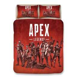 bedding sets cotton pattern Promo Codes - Bedding Sets Polyester 3D APEX Game Theme Printed Pattern Bedding Sets Twin Pillow Case Quilt Duvet Cover King 3PCS