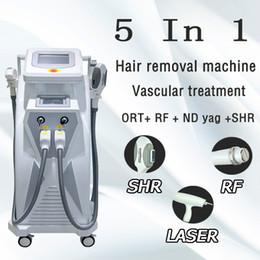 Precio del laser ipl online-Facotry Price Elight IPL láser depilación Nd yag láser máquina de eliminación de tatuajes spa salón clínica uso multifuncional máquina de belleza