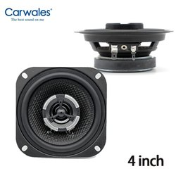 frequency car audio Promo Codes - Universal New 4 Inch 2Way 120W Car Speaker Automobile Car HiFi Audio Full Range Frequency coaxial Speaker High Pitch Loudspeaker