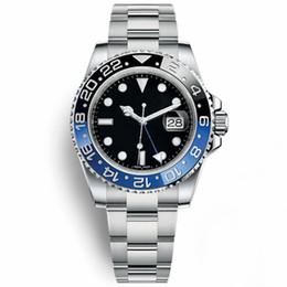 Топ новый синий черный Batmen часы мужчины керамический безель механический нержавеющая сталь автоматический 2813 механизм часы спортивные самозаводящиеся наручные часы supplier batman watches от Поставщики бэтмен часы