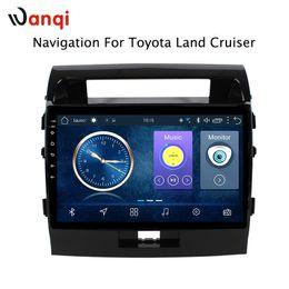 Dvd do carro cruiser toyota land on-line-10.1 polegada Android 8.1 Carro DVD GPS para Toyota land cruiser 2007-2012 Sistema de Navegação de Áudio Estéreo Rádio Vídeo Bluetooth