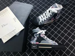Chaussures haut de gamme en Ligne-Date: 19 ans - Chaussures de créateurs pour hommes OBLIQUE Homme X Kaws de Kim Jones pour femmes - Chaussures décontractées - Chaussures de sport - Taille haute EUR 35-45