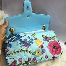 Patrón de flores de colores Bolsos de diseñador Bolsos de lujo de alta calidad Marcas famosas bolsos de mujer Bolsos de cuero genuino original desde fabricantes