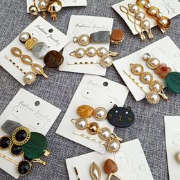 Ragazza hairpin combinazione dolce perla acetato forcina scoppi clip foresta sistema scheda accessori per capelli coreano da morsetto di capelli bohémien fornitori