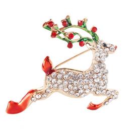 Nouveau produit noël diamant personnalité conception broche chaleur broche belle fauve exquise robe et robe ? partir de fabricateur