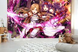Carta da stampa di decalcomanie a parete online-[Autoadesivo] 3D Sword Art Online 8259283 Giappone Anime Carta da parati murale Stampa murale Adesivi murali