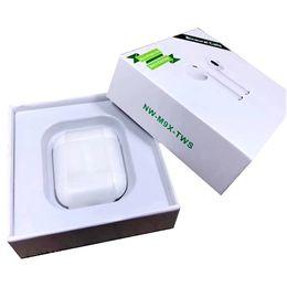 Par de auriculares bluetooth online-Auricular Bluetooth Dual Calling M9X Gemelos inalámbrico de carga Control táctil Emparejamiento automático Auricular Cargador pk TE8