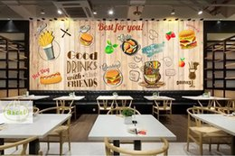 Персонализированные обои онлайн-Bacal Personalized Blackboard Graffiti  3D Mural Wallpaper Cake Shop Cafe Hamburger Shop Restaurant Photo Wallpaper Wall