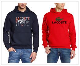 2972d7773a 2019 veste polaire design 2019 Printemps Nouveau design célèbre marque  crocodile Hoodies hommes Rouge Hoodies île