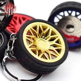 ruedas jdm Rebajas Caliente JDM que compite con el llavero estilo automático llavero llavero de accesorios de motos cadena de llavero Llavero para hombre del borde de la rueda de cadena