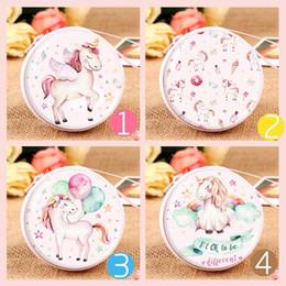 mini boîte à bonbons ronde Promotion Unicorn Coin Purse clés sac rond Tin Iron Box Purse petit sac d'école pour étudiant Mini Purse Casque Sac Candy Box Wallet C2