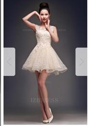 Ball Gown Bateau Short Mini Lace Prom Dressw60 e67beacbf2f2