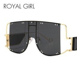 vidros grandes do quadro das meninas Desconto Quadro ROYAL MENINA New Big Sunglasses Men Square Moda Óculos Mulheres alta Retro Qualidade Sun óculos sem aro Ss397 Vintage