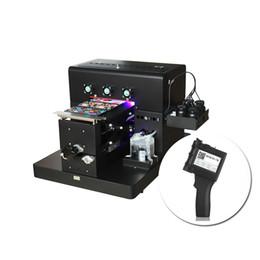 Serigrafia metallo online-Multifunzione UV stampante A4 stampante UV For Metal acrilico Touch Screen Phone Case di stampa etichette a barre palmare