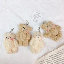 BG couple pink lace dress love Teddy Bear stuffed animals wedding gifts 22CM