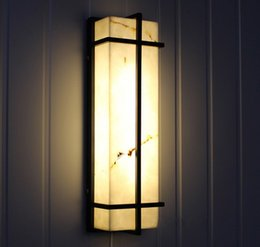 Ha portato le lampade esterne online-Gate Grandi LED verticali da parete per esterni Giardino Villa Impermeabile Led Lampade da parete Esterno Apparecchi da parete cortile Arredo hotel LLFA