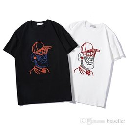 retrato de tee Desconto 2019 homens camiseta marca designer camisetas nova moda manga curta t respirável mulheres moda mc carta velho homem retrato tee impressão streetwear