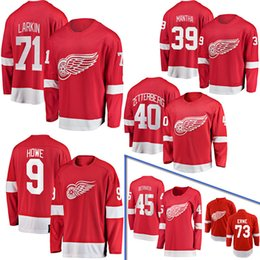 2019 nhl hockey jerseys boston bruins Frauen der Männer Jugend Individuelle Detroit Red Wings # Jerseys Dylan Larkin Anthony Mantha Gordie Howe Henrik Zetterberg Petr Mrazek Hockey Jersey