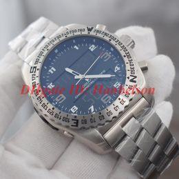Argentina Venta caliente 1884 PROFESIONAL para hombre Reloj de doble zona horaria Pantalla de puntero electrónico montre de luxe EB5010B1 M532 176E Relojes de diseño de metal Suministro