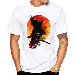 2019 samurai superior 2019 Moda Verão Samurai E Sol Impresso T Shirt dos homens de Manga Curta Design Popular Encabeça Novidade tshirt samurai superior barato