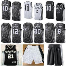 NBAMänner SanAntonioSpurs 10 DeMarDeRozan Black Icon Swingman Jersey von Fabrikanten