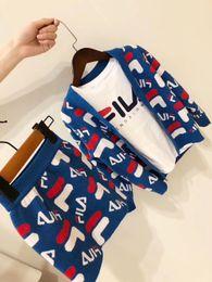 Caçadores de roupas para crianças on-line-Crianças Cardigan Sweater 2019 Primavera Inverno meninos meninas Casual casaco vestido Crianças azul Malhas Jumper weater Roupas