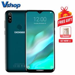2019 fingerprint android Presale DOOGEE Y8 3 GB + 16 GB Câmeras Back Back Face IDDTouch Fingerprint 6.1 polegada de Água-drop Tela Android 9.0 MTK6739 Quad Core até 1.5 GHz desconto fingerprint android