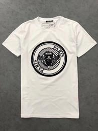 ff6c87cd3bb 2019ss Mens Designer T-shirts Paris Imprimé À La Mode Féminine White  Medallion T-Shirt 100% Coton Top Tees À Manches Courtes pour M-XXXL