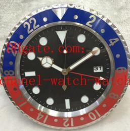 2019 mochila eletrônica 8 Estilo de alta qualidade relógio de parede relógio de 34CM x 5cm de aço inoxidável Movimento Quartz azuis luminescentes Relógios