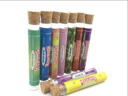 Argentina Pegatinas personalizadas gratis Tubo de vidrio con tapa de corcho - 120 mm Blunt / Tubo de vidrio para tubos pre-laminados Dankwoods Caliwoods empaques de tubos de corcho cheap corked glass Suministro