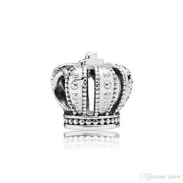 Deutschland Klassische 925 Sterling Silber Krone Charm Set Original Box für Pandora DIY Armband Europäischen Perlen Charms Schmuck zubehör Versorgung