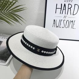 fascinadores de navidad Rebajas Nueva marca para hombre y mujer sombrero para el sol diseñador sol sombrero playa viajes hombre y mujer sombrero de paja caja a juego