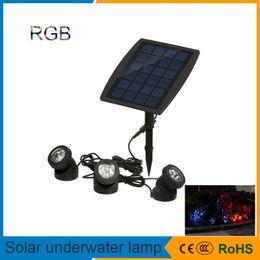 luz de punto llevada rgb impermeable Rebajas Lámpara solar de césped subacuático 18 Sensor de luz de punto LED RGB impermeable IP68 Lámpara de estanques de piscina Camino de patio al aire libre Luz de jardín