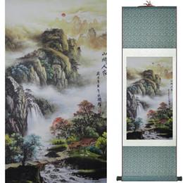 2019 pinturas fénix Pintura de paisaje Decoración de oficina en el hogar Desplazamiento chino Pintura Montaña y río Pintura 19082419