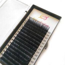 Cils 8mm en Ligne-16line 1pcs naturel doux Vison Cils Extension Volume 3D Maquillage individuel Intensification Cils Faux Cils Faux CiliaS C / D Curl