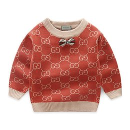 children korean clothing style Promo Codes - Children Sweater Catamite Autumn Children's Garment Clothing New Pattern Korean Fashion Round Neck Pullover Thickening