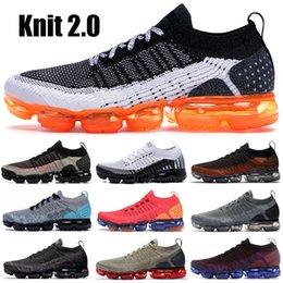 2019 zapatillas multi color nike vapormax Triple Black 1.0 Knit 2.0 Safari Black Multi color Racer Blue Team Red Running Zapatillas Asphalt Gray Mujer Hombre Zapatos de diseñador rebajas zapatillas multi color